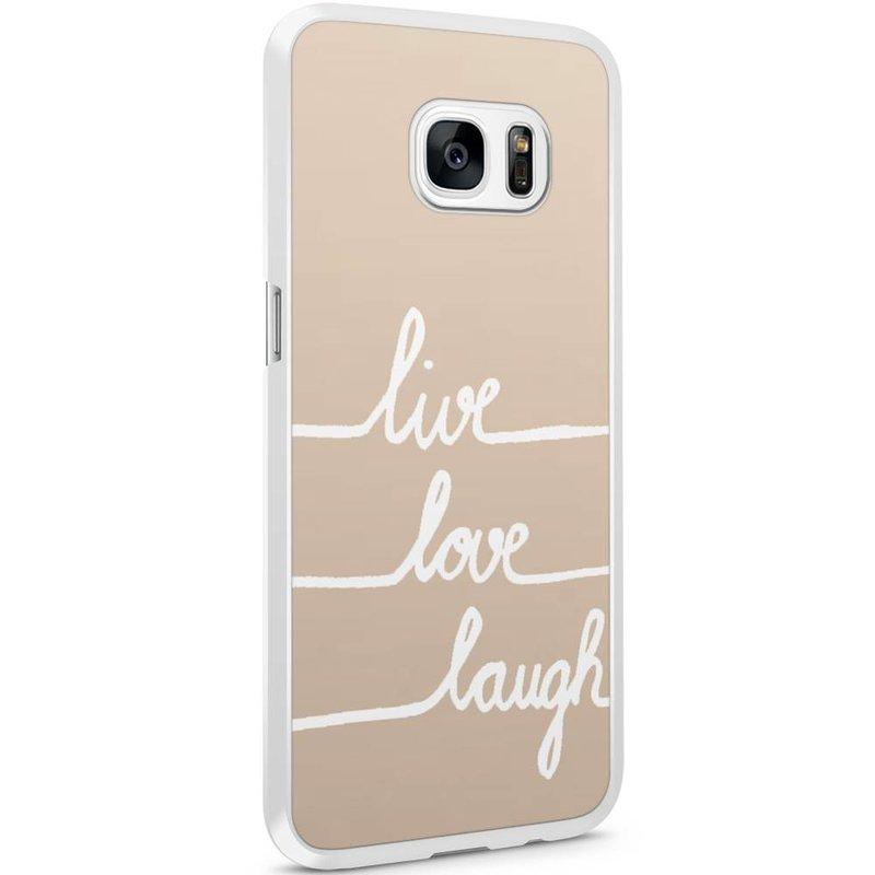 Casimoda Samsung Galaxy S7 Edge hoesje - Live, love, laugh