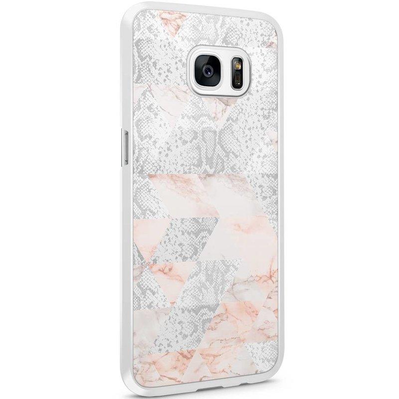 Casimoda Samsung Galaxy S7 Edge hoesje - Snake art