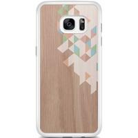 Casimoda Samsung Galaxy S7 Edge hoesje - Geo blocks on wood