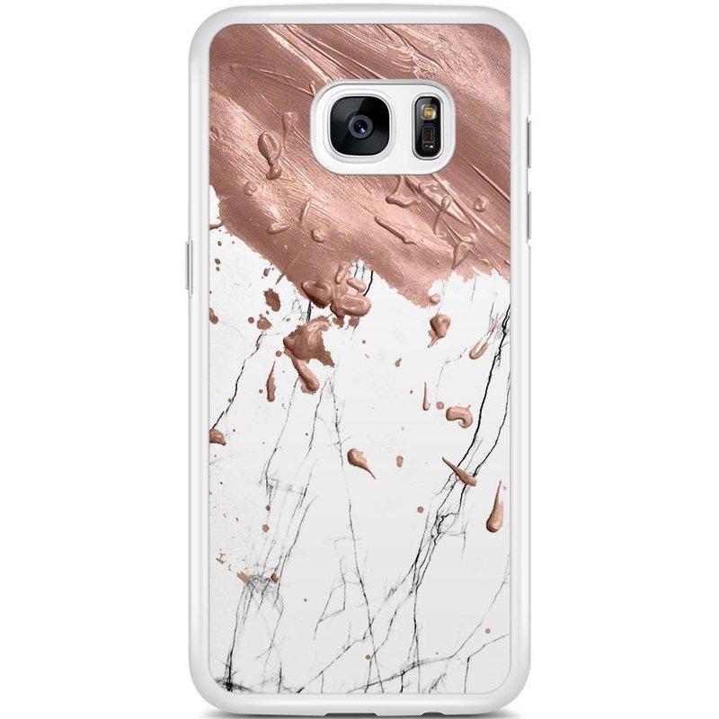 Casimoda Samsung Galaxy S7 Edge hoesje - Marble splash