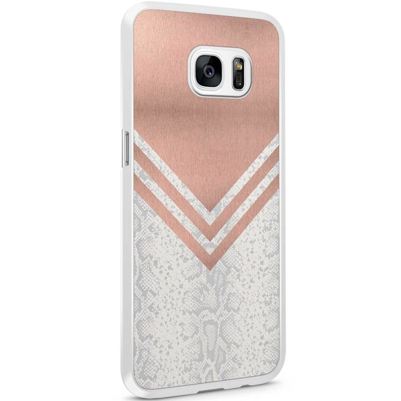 Casimoda Samsung Galaxy S7 Edge hoesje - Rose gold snake