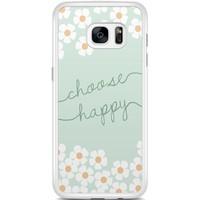 Casimoda Samsung Galaxy S7 Edge hoesje - Choose happy