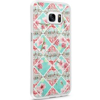 Casimoda Samsung Galaxy S7 Edge hoesje - Aztec roze