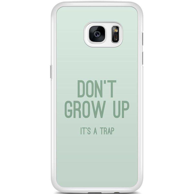 Casimoda Samsung Galaxy S7 Edge hoesje - Don't grow up