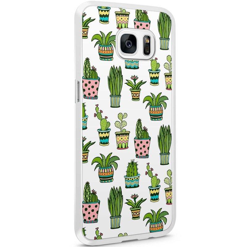 Casimoda Samsung Galaxy S7 Edge hoesje - Cactussen