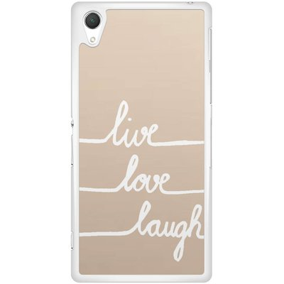Sony Xperia Z2 hoesje - Live, love, laugh