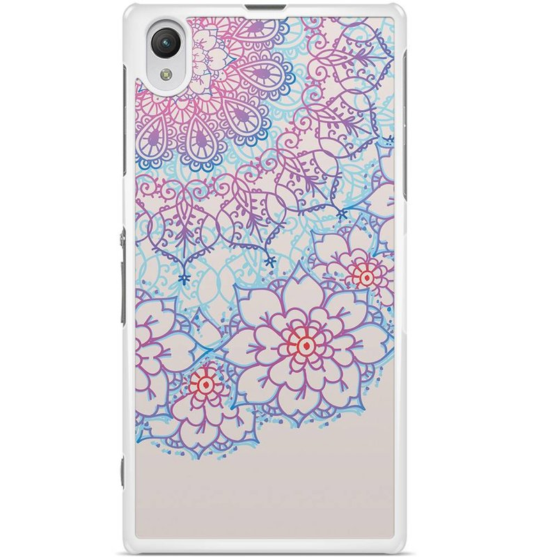 Sony Xperia Z1 hoesje - Red & blue floral