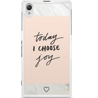 Sony Xperia Z1 hoesje - Choose joy