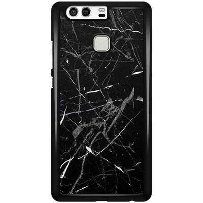 Casimoda Huawei P9 hoesje - Marmer zwart