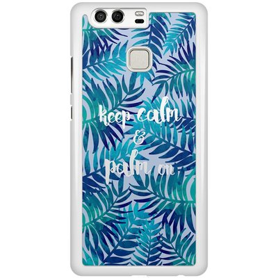 Casimoda Huawei P9 hoesje - Keep calm and palm on
