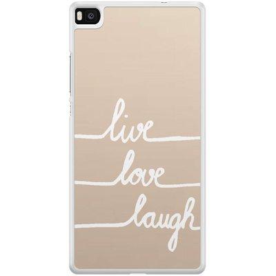Casimoda Huawei P8 hoesje - Live, love, laugh