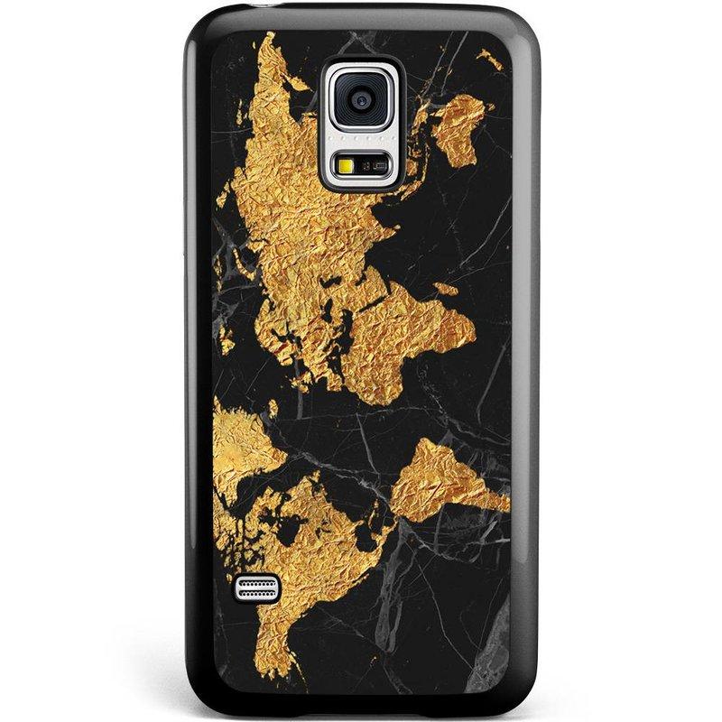 Casimoda Samsung Galaxy S5 Mini hoesje - Wereldmap