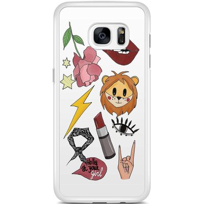Samsung Galaxy S7 Edge hoesje - Rebel patches