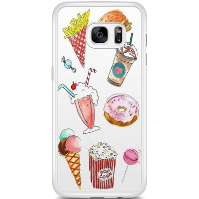 Casimoda Samsung Galaxy S7 Edge hoesje - Fastfood