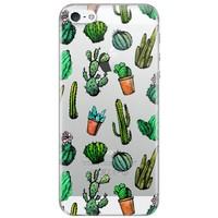 Casimoda iPhone 5/5s/SE transparant hoesje - Cactus printje