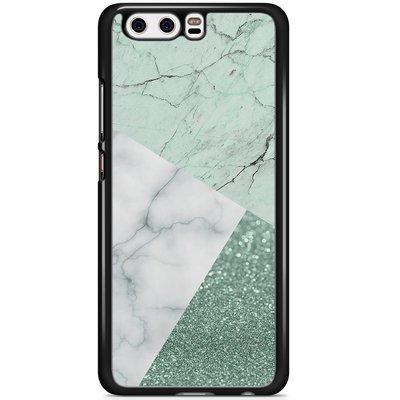 Casimoda Huawei P10 hoesje - Minty marmer collage