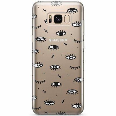 Casimoda Samsung Galaxy S8 transparant hoesje - Eye see you