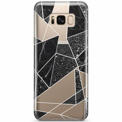 Casimoda Samsung Galaxy S8 transparant hoesje - Abstract painted