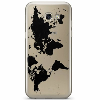 Casimoda Samsung Galaxy A3 2017 transparant hoesje - Wereldmap
