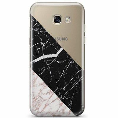 Casimoda Samsung Galaxy A3 2017 transparant hoesje - Marblous