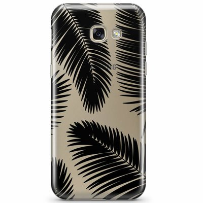 Casimoda Samsung Galaxy A3 2017 transparant hoesje - Palm leaves silhouette
