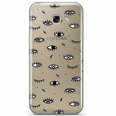 Casimoda Samsung Galaxy A3 2017 transparant hoesje - Eye see you