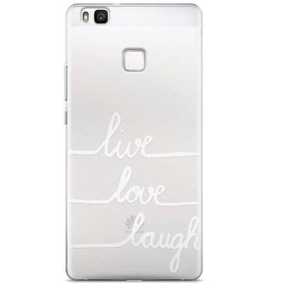 Casimoda Huawei P9 Lite transparant hoesje - Live, love, laugh