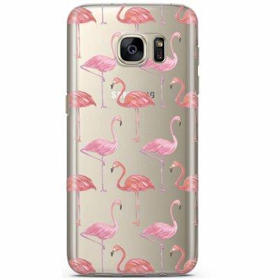 Casimoda Samsung Galaxy S7 transparant hoesje - Flamingo