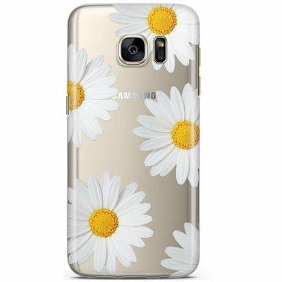 Casimoda Samsung Galaxy S7 transparant hoesje - Sweet daisies