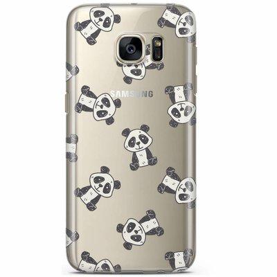 Casimoda Samsung Galaxy S7 transparant hoesje - Panda print