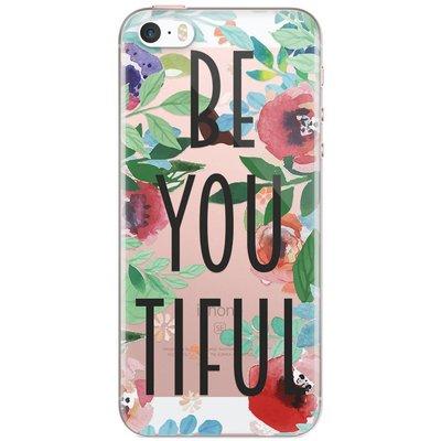 Casimoda iPhone 5/5S/SE transparant hoesje - Beyoutiful