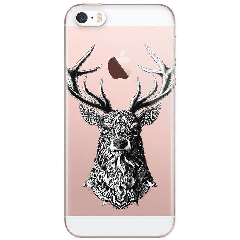 Casimoda iPhone 5/5s/SE transparant hoesje - Rendier