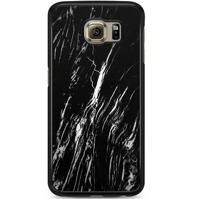 Casimoda Samsung Galaxy S6 hoesje - Black is my happy color (marmer)