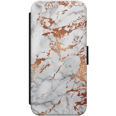 Casimoda iPhone 8 / 7 flipcase hoesje - Marmer rose goud