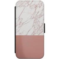 iPhone 8 / 7 flipcase hoesje - Marmer rosegoud twist