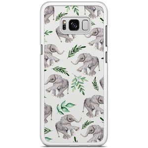 Samsung Galaxy S8 Plus hoesje - Floral olifantjes