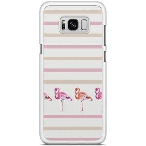 Samsung Galaxy S8 Plus hoesje - Flamingo stripes