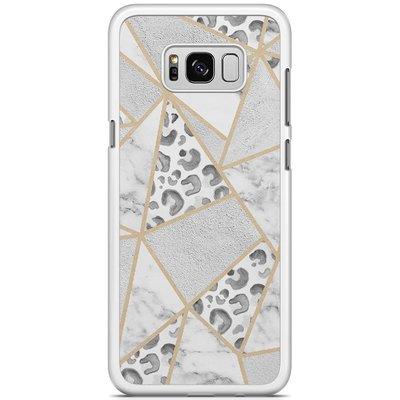 Casimoda Samsung Galaxy S8 Plus hoesje - Stone & leopard print