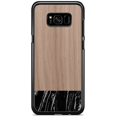 Casimoda Samsung Galaxy S8 Plus hoesje - Marmer zwart wood