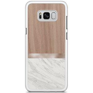 Samsung Galaxy S8 Plus hoesje - Marble wood