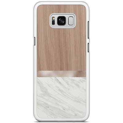 Casimoda Samsung Galaxy S8 Plus hoesje - Marble wood