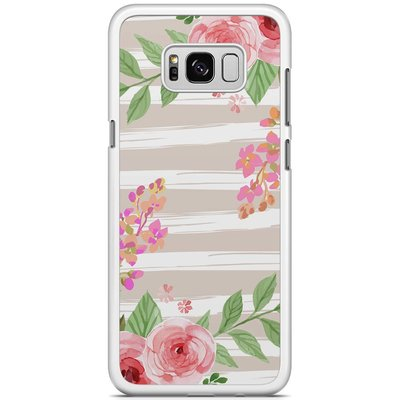 Casimoda Samsung Galaxy S8 Plus hoesje - Blush pink rose