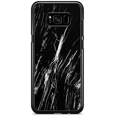 Casimoda Samsung Galaxy S8 Plus hoesje - Black is my happy color (marmer)