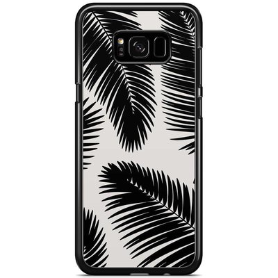 Casimoda Samsung Galaxy S8 Plus hoesje - Palm leaves sillhouette