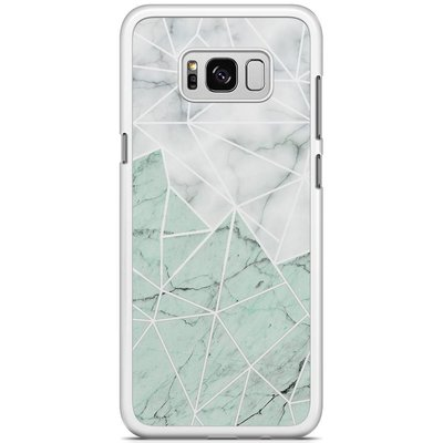 Casimoda Samsung Galaxy S8 Plus hoesje - Marmer mint mix