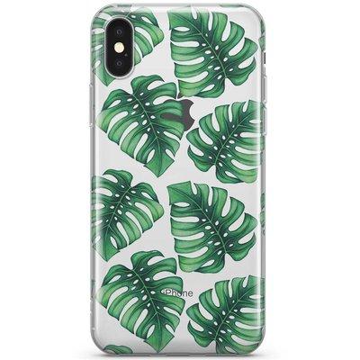 Casimoda iPhone X transparant hoesje - Palmbladeren