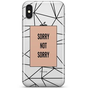 iPhone X/XS transparant hoesje - Sorry not sorry