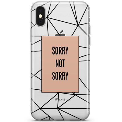 Casimoda iPhone X transparant hoesje - Sorry not sorry
