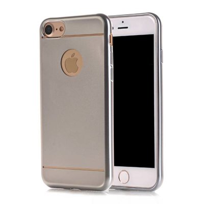 Casimoda iPhone 8/7 siliconen hoesje - Zilver