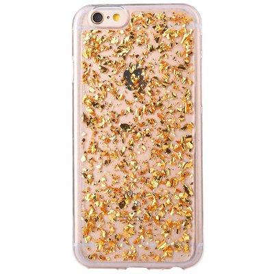 Casimoda iPhone 6/6s hoesje - Gouden blaadjes transparant